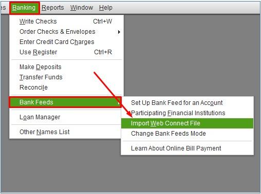 Import WebConnect File to QuickBooks Desktop