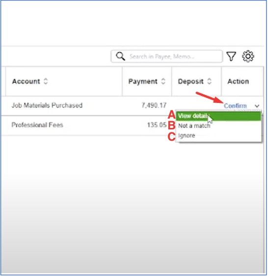 Manage Recognized Transactions in the Bank Feed Center