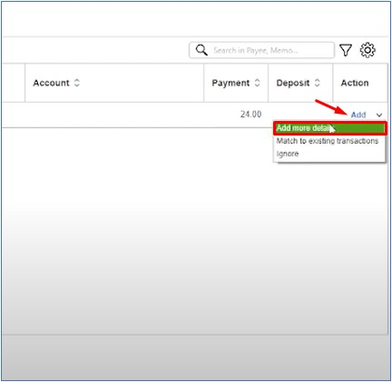 Managing Unrecognized Transactions in the Bank Feed Center