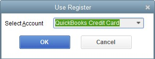 Select the Credit Card Account Dropdown