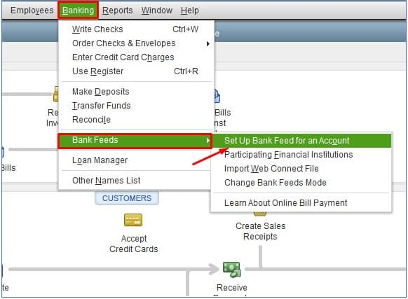 Set Up a Bank Feed in QuickBooks Desktop