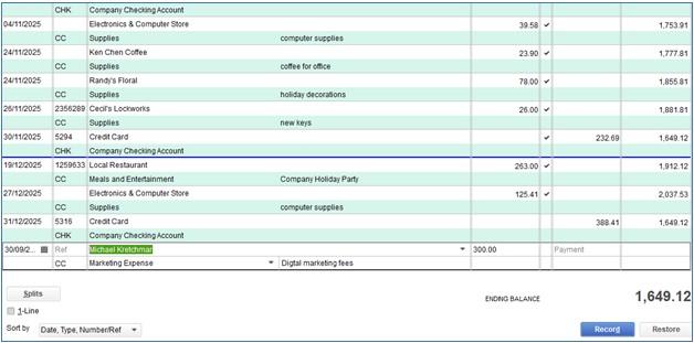 Shortcut Method of Entering Credit Card Charges in QuickBooks Desktop